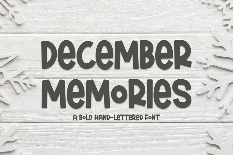 Web Font December Memories - A Bold Hand-Lettered Font example image 1