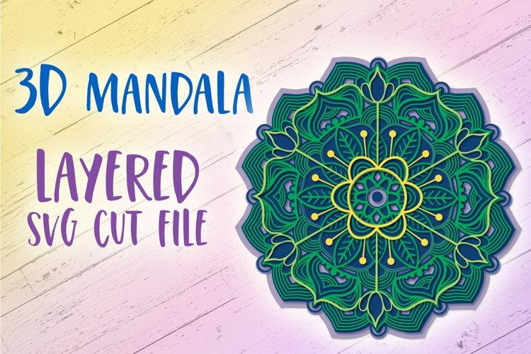 3D Mandala SVG File | 3D Papercut Mandala example image 1