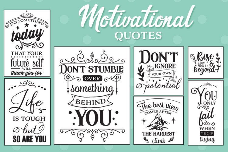 Motivational Quotes SVG Pack example image 1