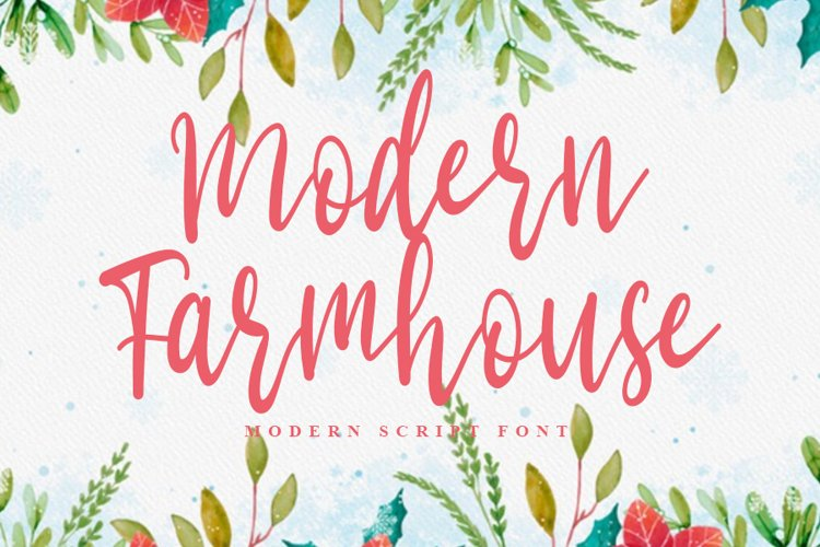Modern Farmhouse | Modern Script Font example image 1