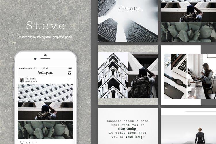 Steve|Instagram + stories templates