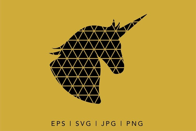 Geometric Unicorn SVG illustration | Geometric Animals SVG example 1