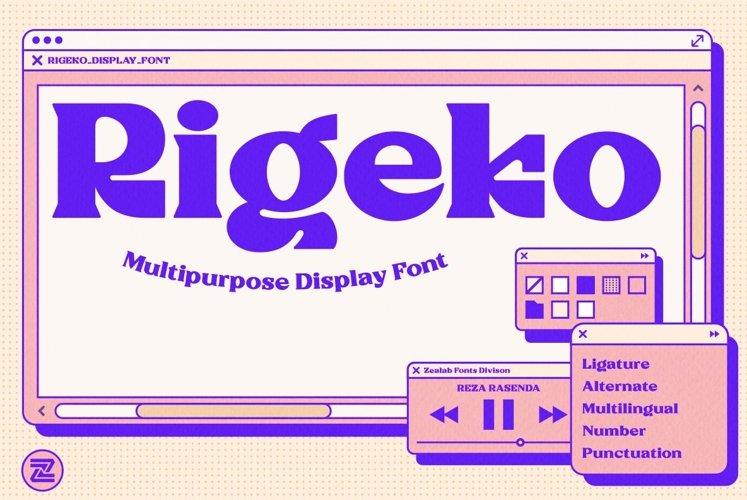 Rigeko-Unique Display Font example image 1