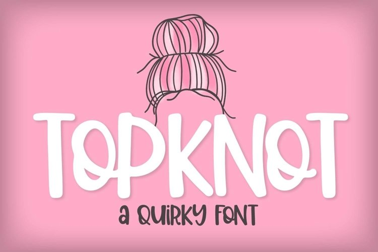 Web Font Top Knot - A Quirky Caps Font example image 1