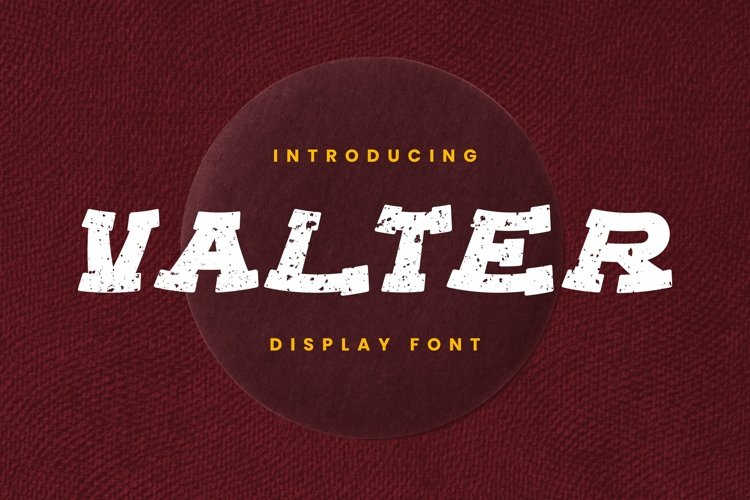 Web Font Valter Font example image 1