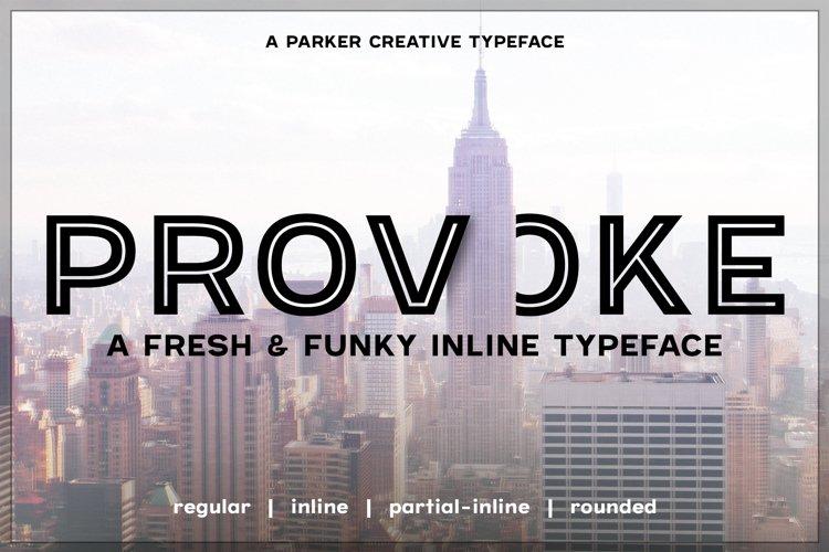 Provoke Trendy Inline Typeface