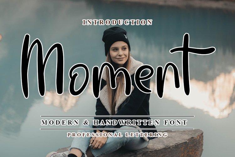 Moment - Modern Handwritten Font example image 1