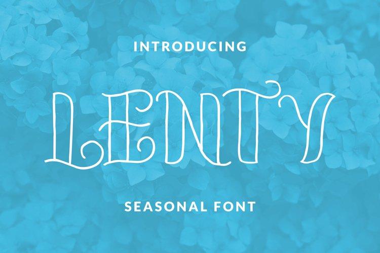 LENTY Font example image 1