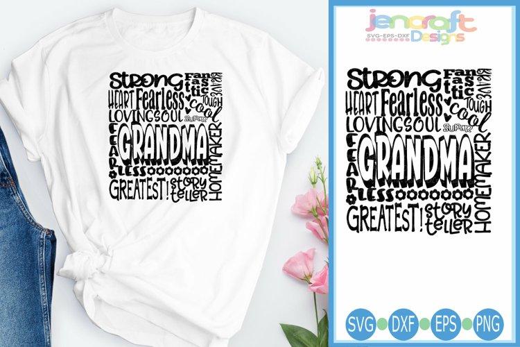 Grandma SVG, Mothers Day SVG, typography word art Svg, Eps,