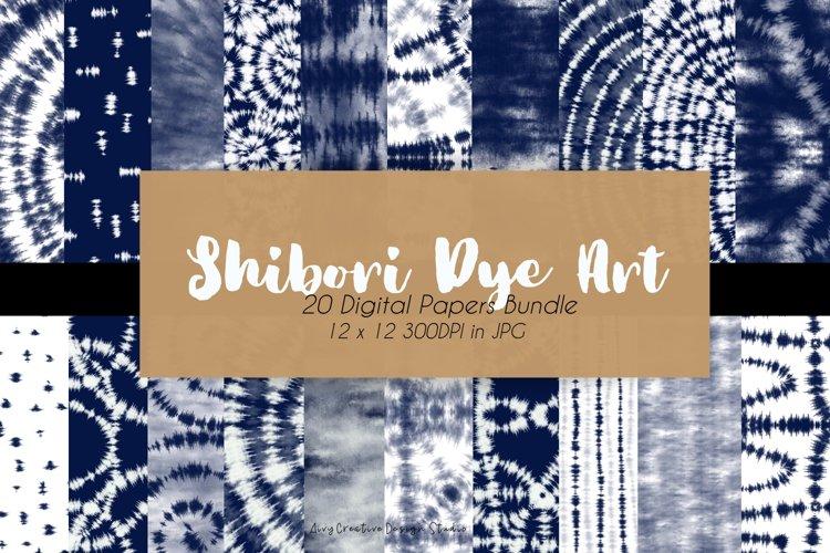 20 Shibori Tie Dye Art Digital Paper Set