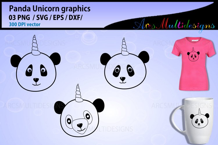 Unicorn SVG / Panda Unicorn svg / panda face unicorn svg example image 1