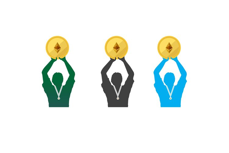 human Championship and winner gold medal illustration example image 1