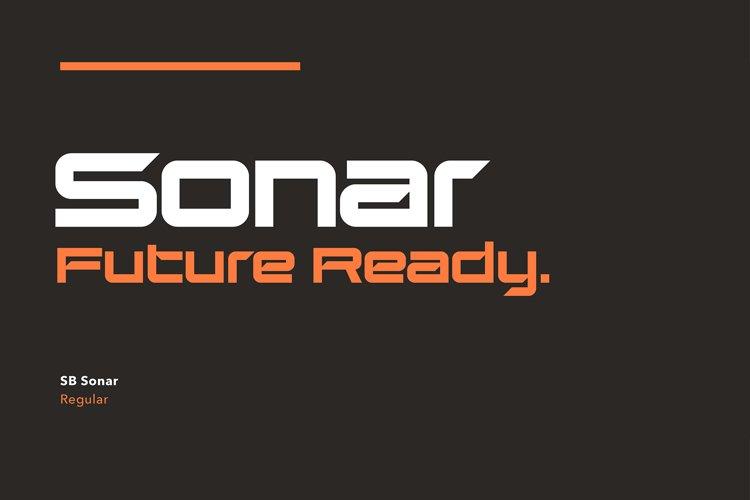 SB Sonar - Futuristic Font