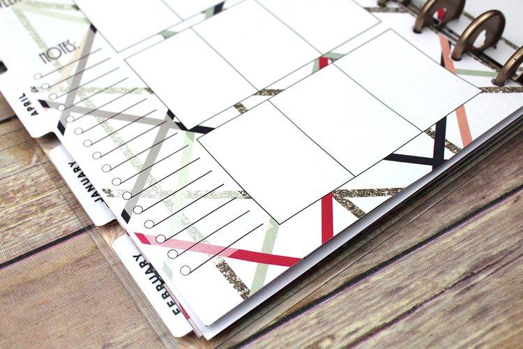 Happy Planner PRINTABLE, Weekly Insert Refill, Abstract, Glitter , Printable, Planner Printable, 7 x 9.25, Mambi Happy Planner