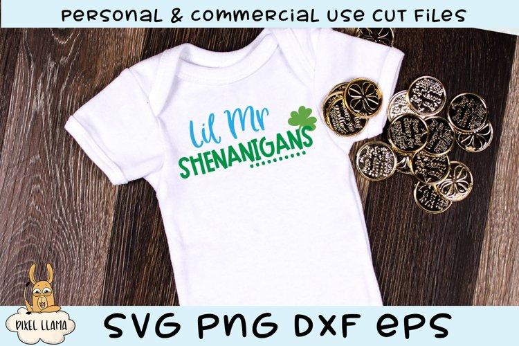 Lil Mr Shenanigans St Patricks SVG Cut File example image 1