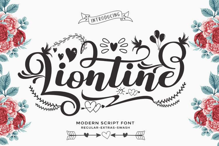 Liontine Script - Swash With Extras - example image 1