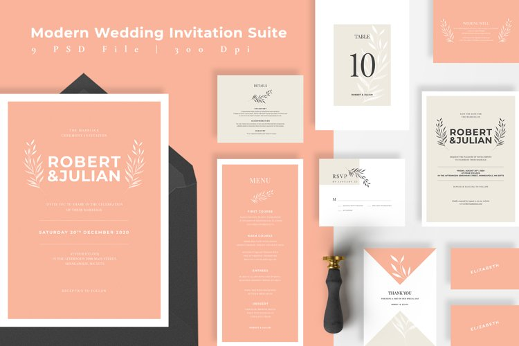 Modern Elegant Wedding Suite example image 1