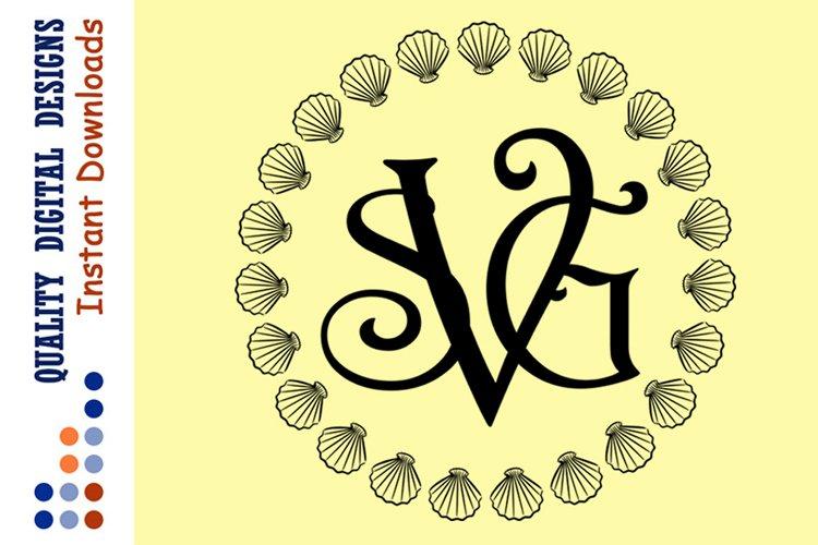 Seashell Monogram Svg Sea Frames