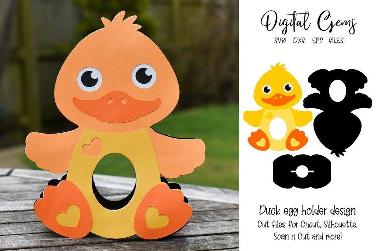 Duck Easter egg holder design SVG / DXF / EPS example image 1