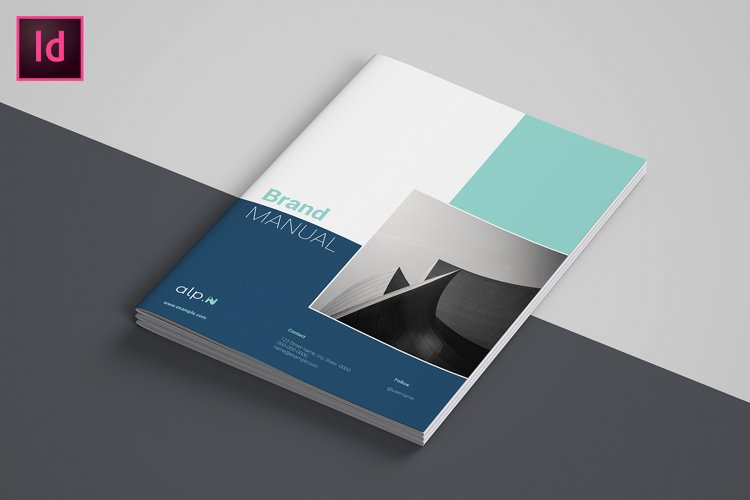 Brand Guidelines / Brand Manual Template, Indesign Template