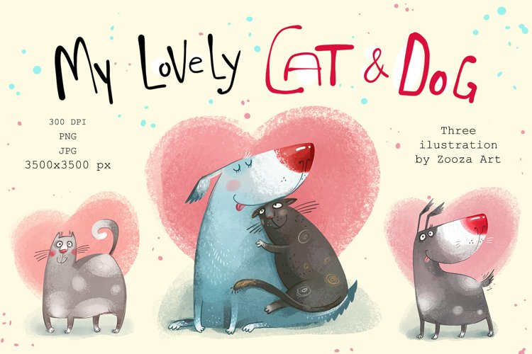 My lovely Cat and Dog illustrations