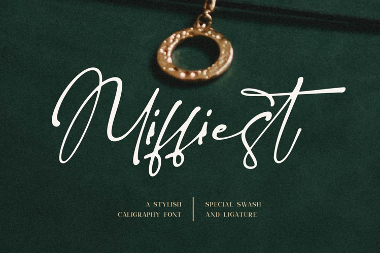 Miffiest - Stylish Calligraphy Fonts example image 1