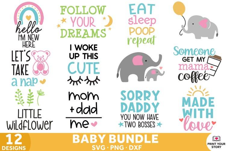 Baby SVG bundle for Nursery, Baby Shower, Gifts, Newborn SVG