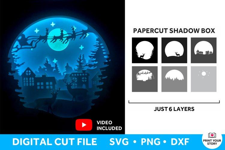 Christmas Shadow Box SVG, Light Box SVG Christmas SVG