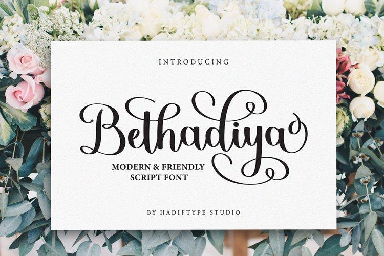 Bethadiya Script example image 1