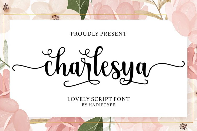 Charlesya Script example image 1