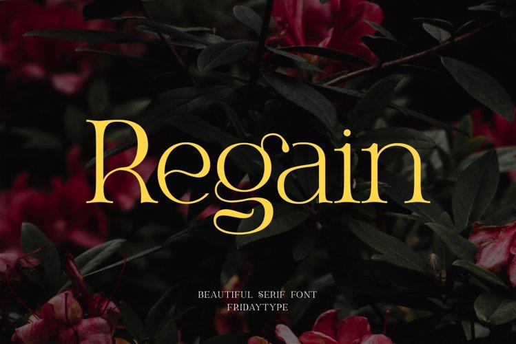 Regain - Beautiful Serif example image 1