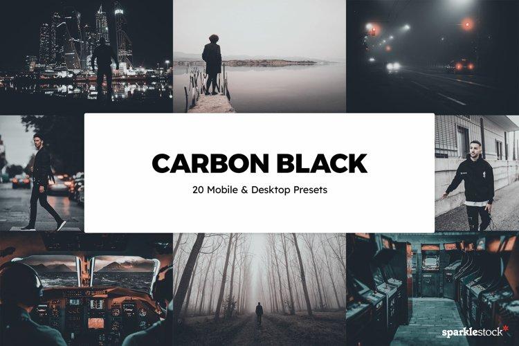 20 Carbon Black Lightroom Presets & LUTs