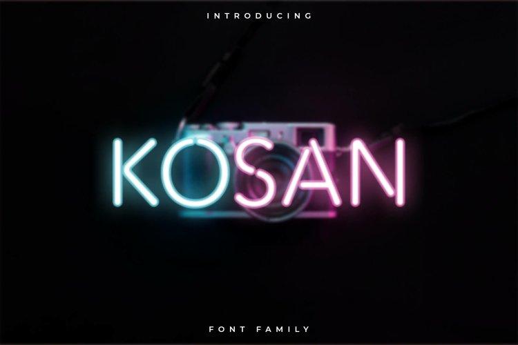 Kosan Font Family - Display example image 1