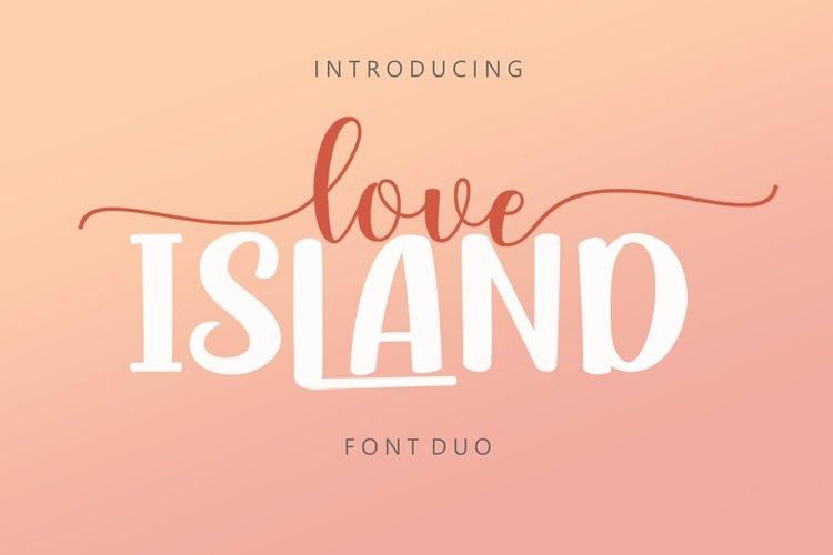 Love Island Font Duo