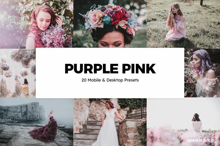 20 Purple Pink Lightroom Presets & LUTs example image 1
