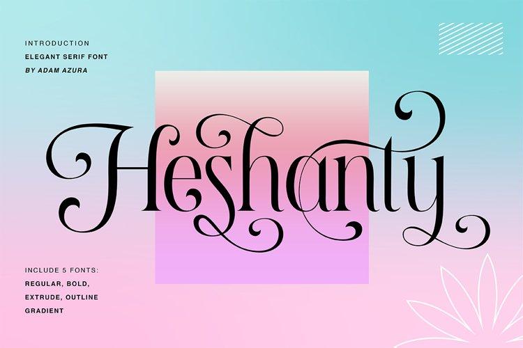 Heshanty Typeface