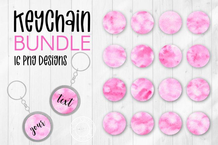 Keychain Pink Sublimation Design. Keychain Circle Background