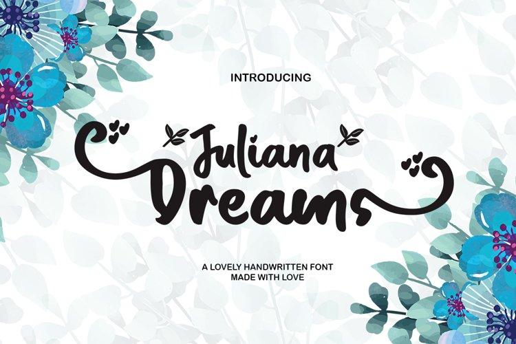 Juliana Dreams - Lovely Font example image 1