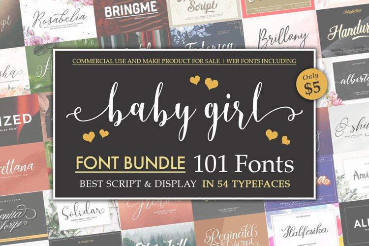 Baby Girl Font Bundle