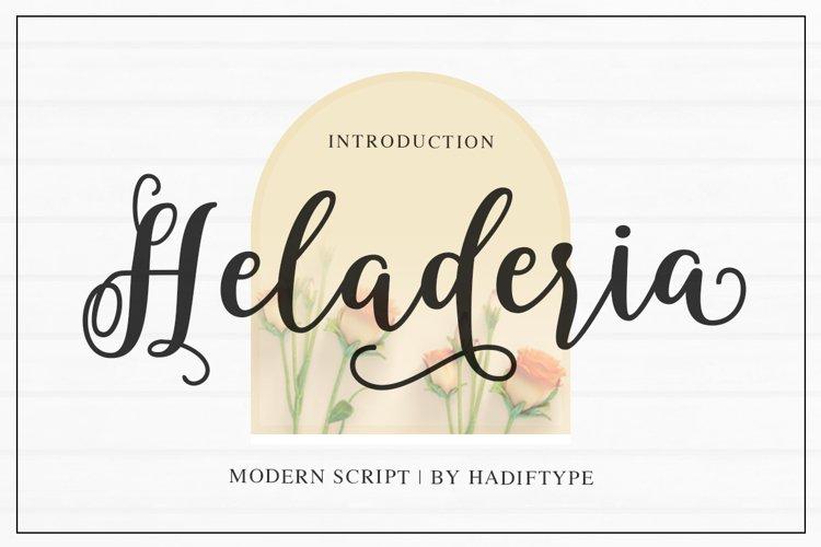 Heladeria Script example image 1