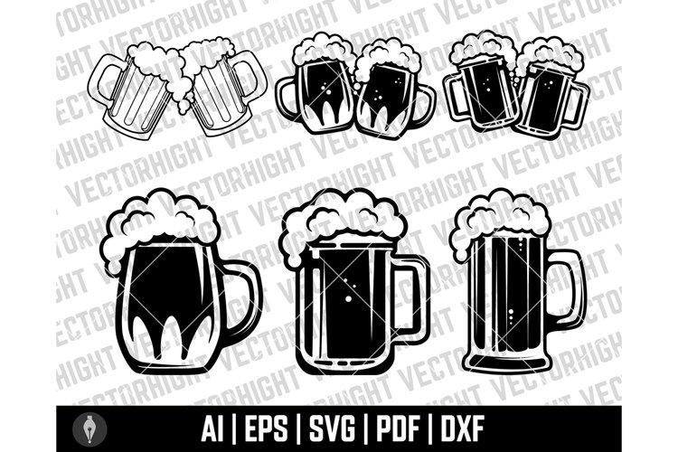 Beer Mug SVG, Beer Mug Shape Ai, Eps, Pdf, dxf. Beer Glass