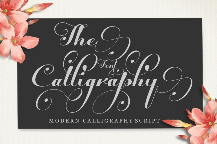 The Calligraphy Font example image 1