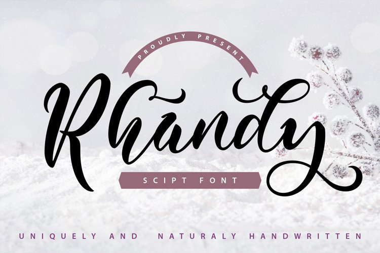 Rhandy - Uniquely & Naturally Handwritten example image 1