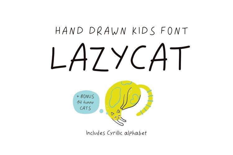 Lazycat kids font example image 1