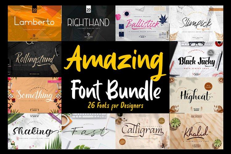 Best Seller - Amazing Fonts Bundle example image 1