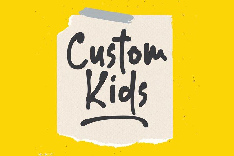 Custom Kids example image 1