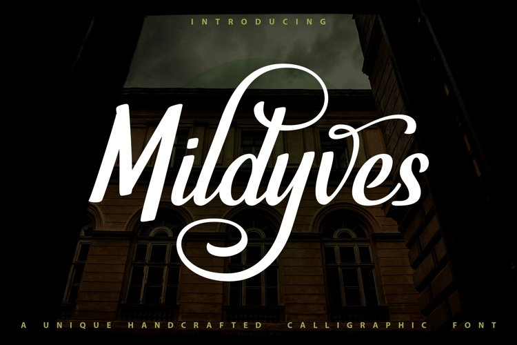 Mildyves - Handcrafted Calligraphic Font example image 1