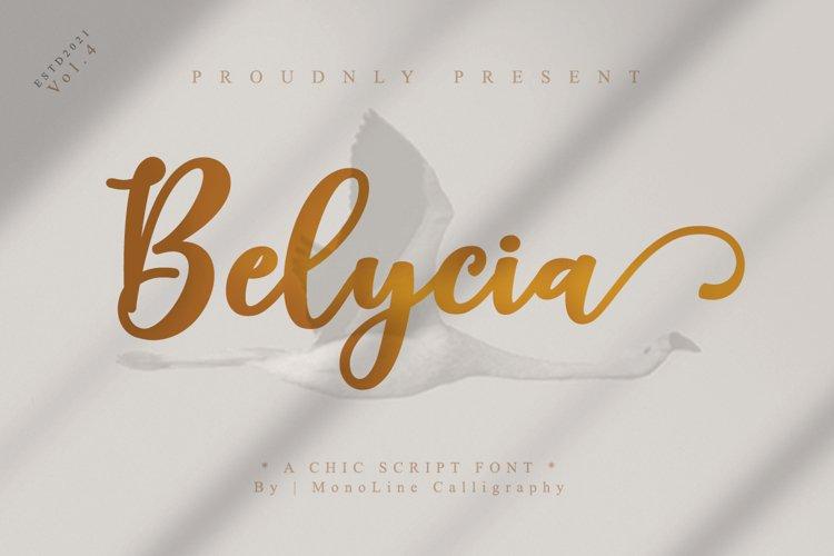 Belycia Script example image 1