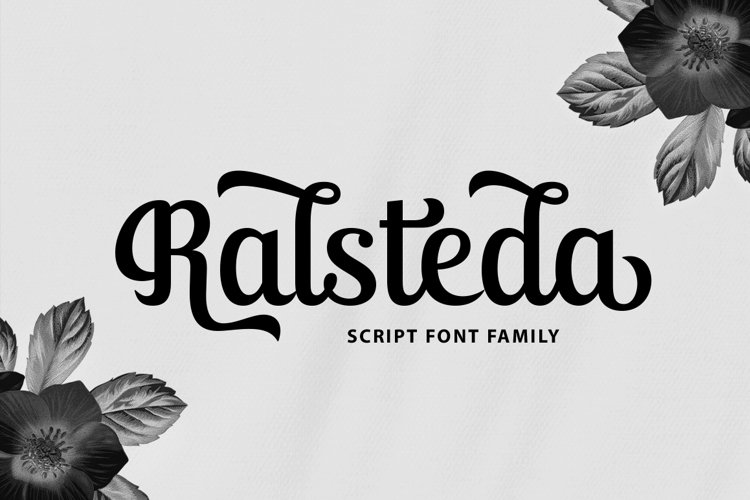 Ralsteda Script - Font Family example image 1