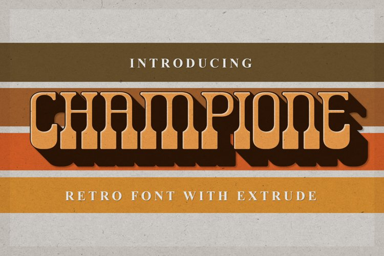 Champione | Retro Font with Extrude example image 1